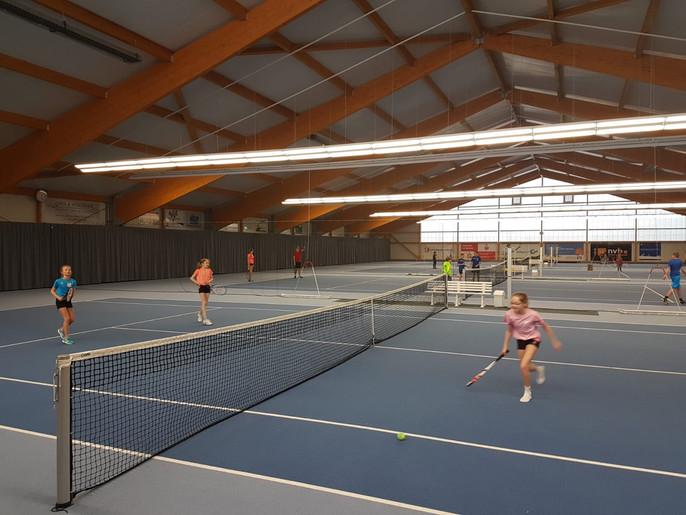 Werbeaktion für Winter-Abo's in der Tennishalle des TC  BW Emlichheim