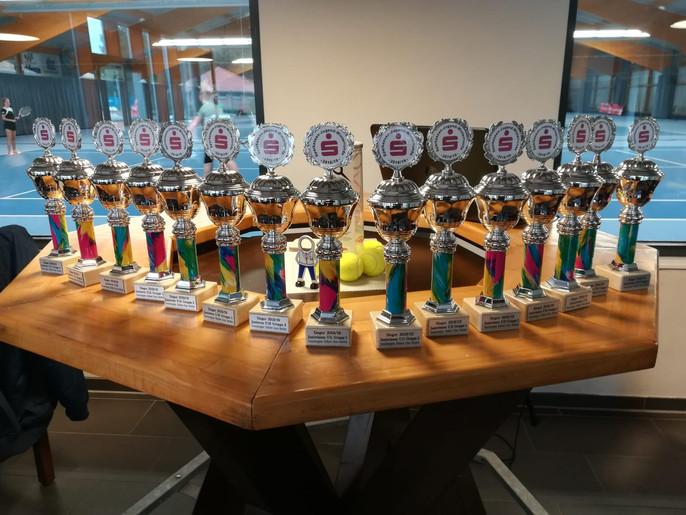 Start der Sparkassen Winterrunde der Tennisregion Dollart-Ems-Vechte in der Halle in Emlichheim