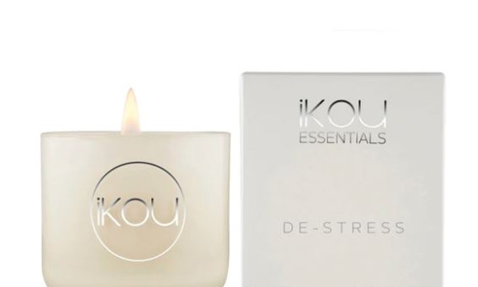 IKOU ESSENTIALS CANDLE GLASS SMALL - DE-STRESS