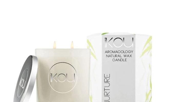 IKOU ECO-LUXURY CANDLE GLASS LARGE - NURTURE