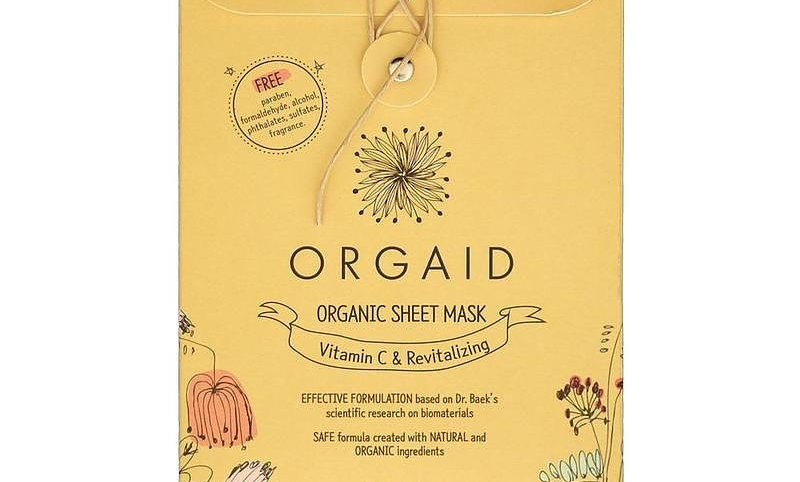 ORGAID Vitamin C & Revitalizing Organic Sheet Mask Box (4 stk.)