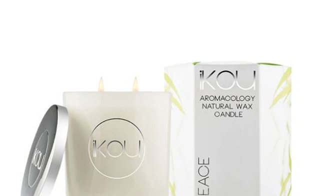IKOU ECO-LUXURY CANDLE GLASS LARGE - PEACE