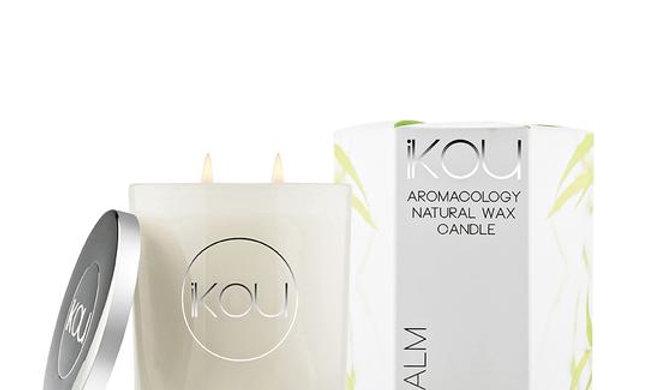 IKOU ECO-LUXURY CANDLE GLASS LARGE - CALM
