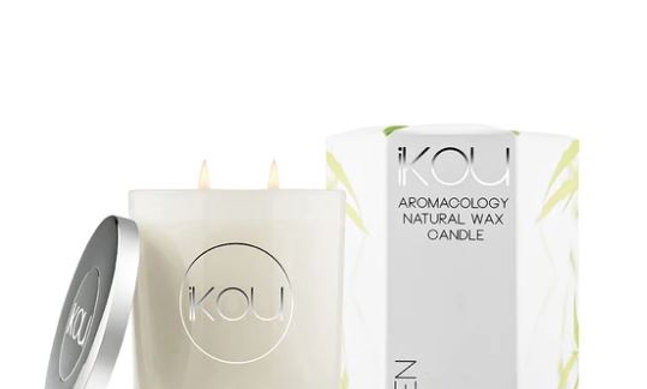 IKOU ECO-LUXURY CANDLE GLASS LARGE - ZEN