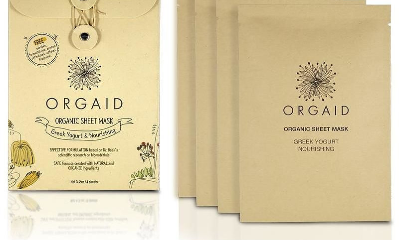 ORGAID Greek Yogurt & Nourishing Organic Sheet Mask Box(4 stk.)