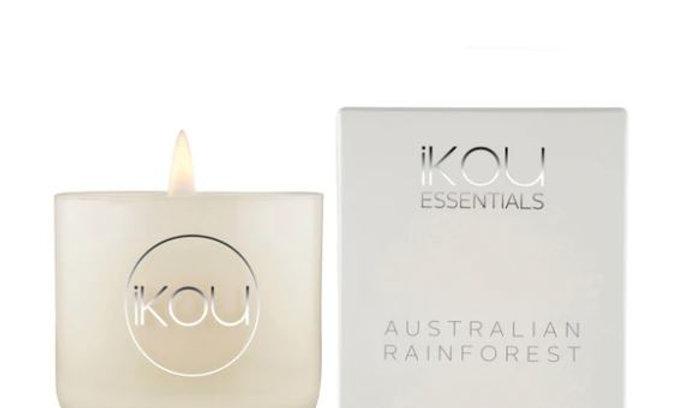 IKOU ESSENTIALS CANDLE GLASS SMALL - AUSTRALIAN RAINFOREST
