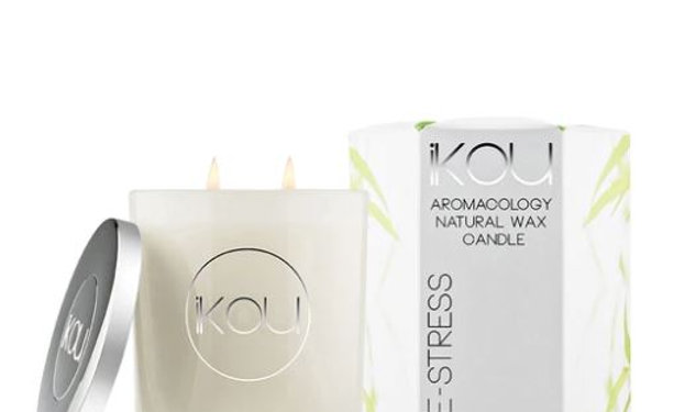 IKOU ECO-LUXURY CANDLE GLASS LARGE - DE-STRESS