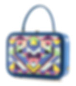 blue leather briefcase