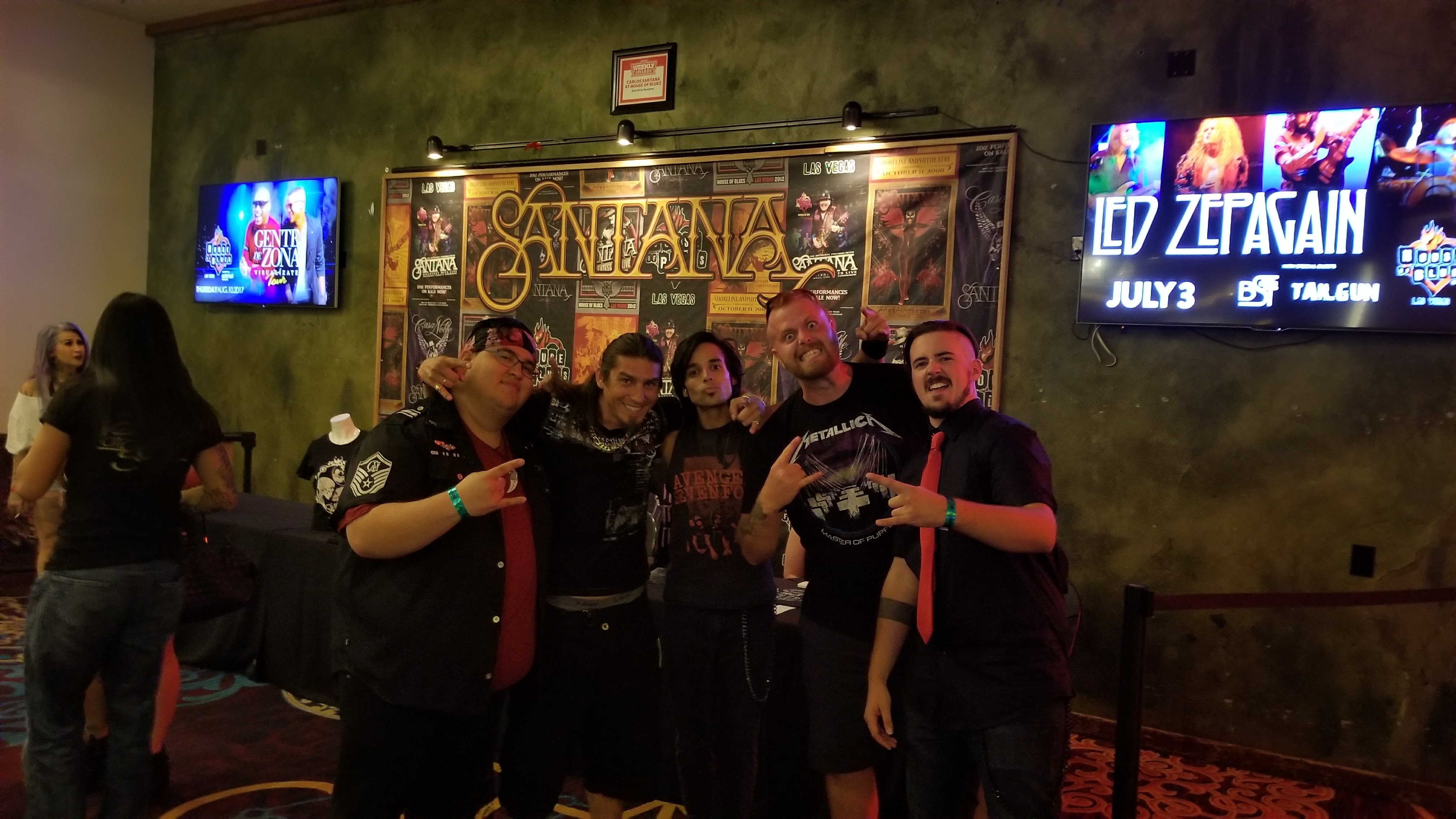 With the band after the show.