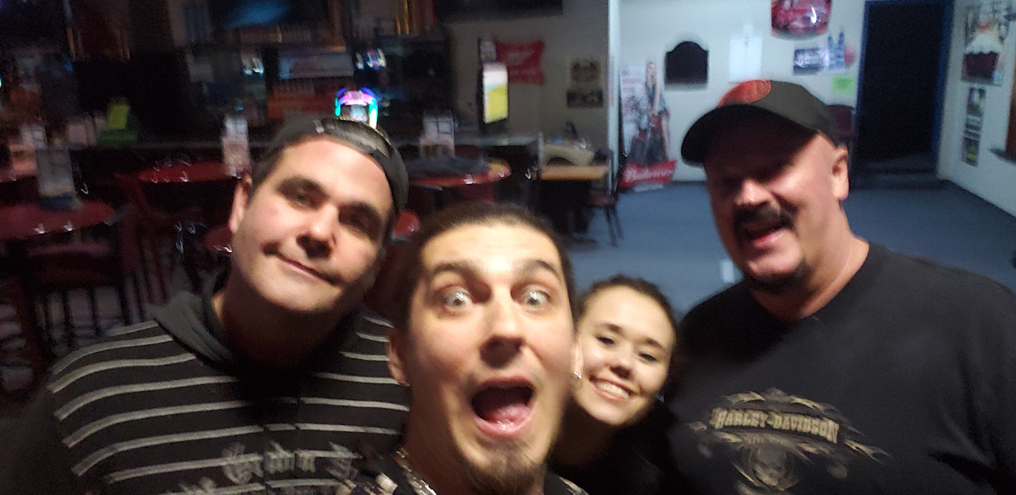 With the gang at the Billiards