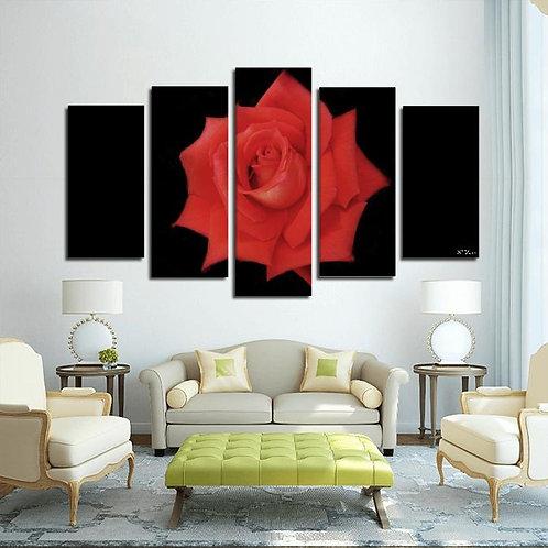Rose Wall Print 5pcs