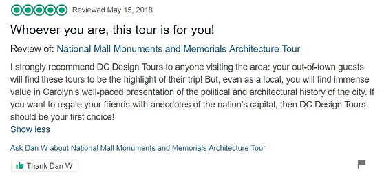 DC Design Tours Reviews