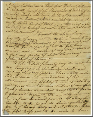 James Smithson's Will. Image courtesy of Smithsonian Institution