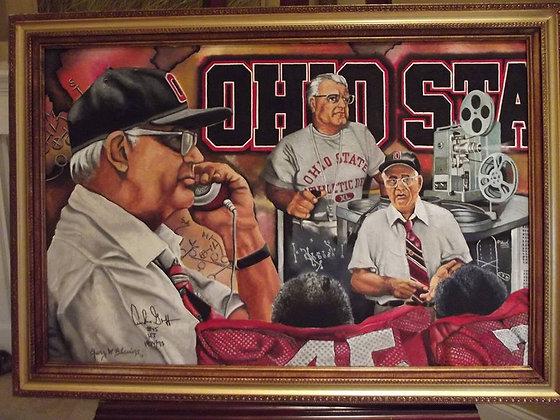Ohio State Triple Portrait Woody Hayes