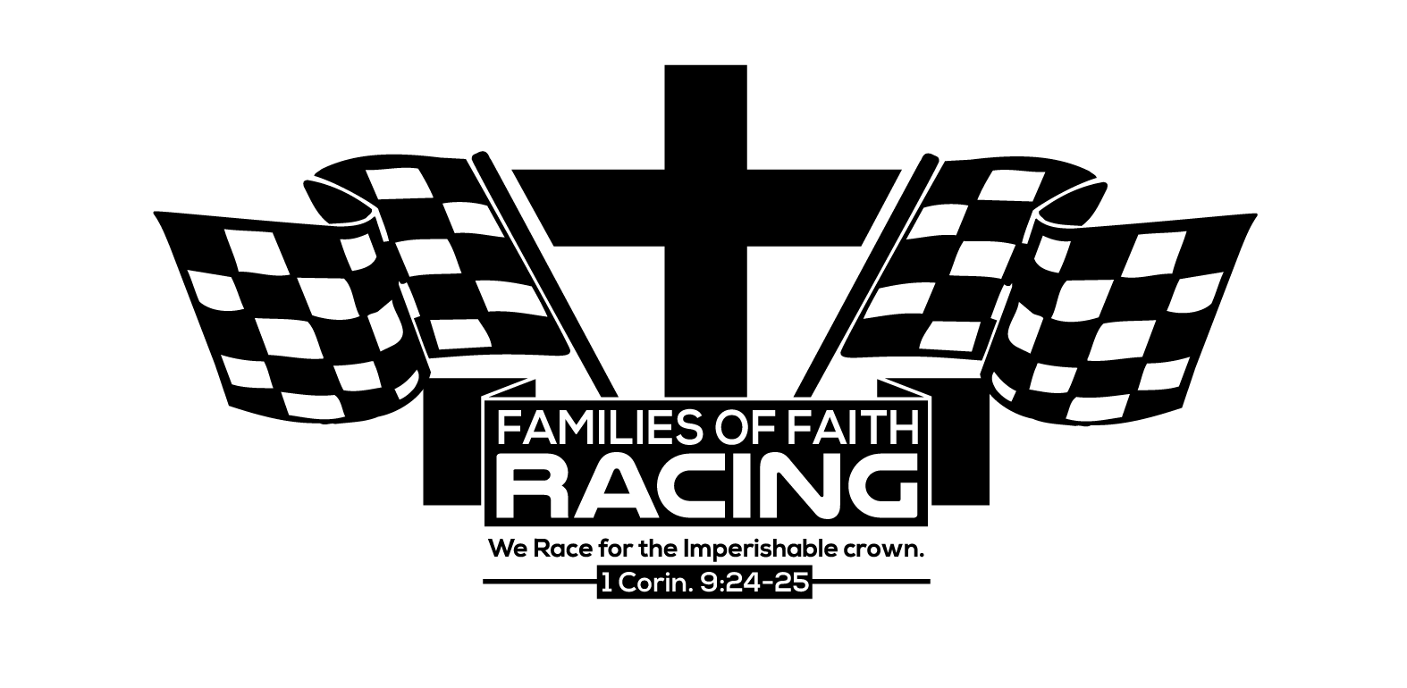 Family Of Faith Racing Decal white backg