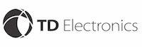 TD electronics logo black font large