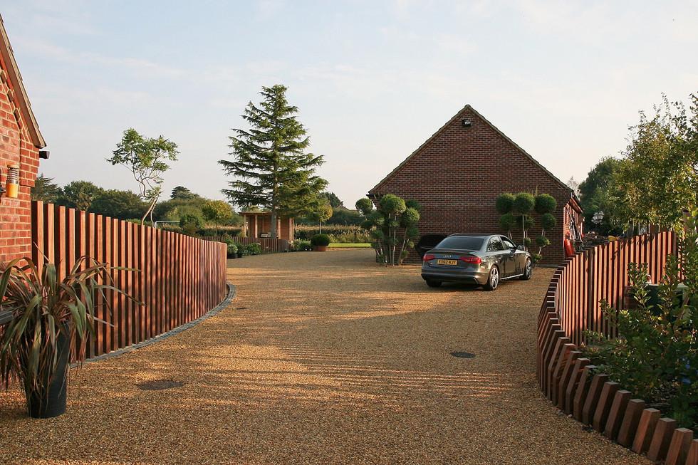 Garden design in wymondham, norwich, norfolk