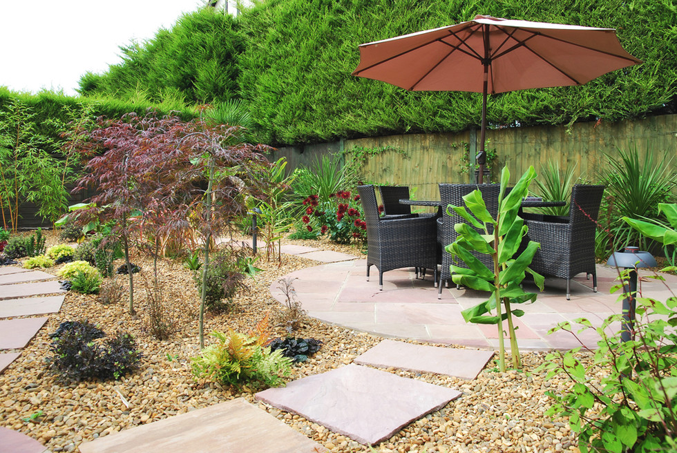 Garden landscaping in taverham, norwich, norfolk