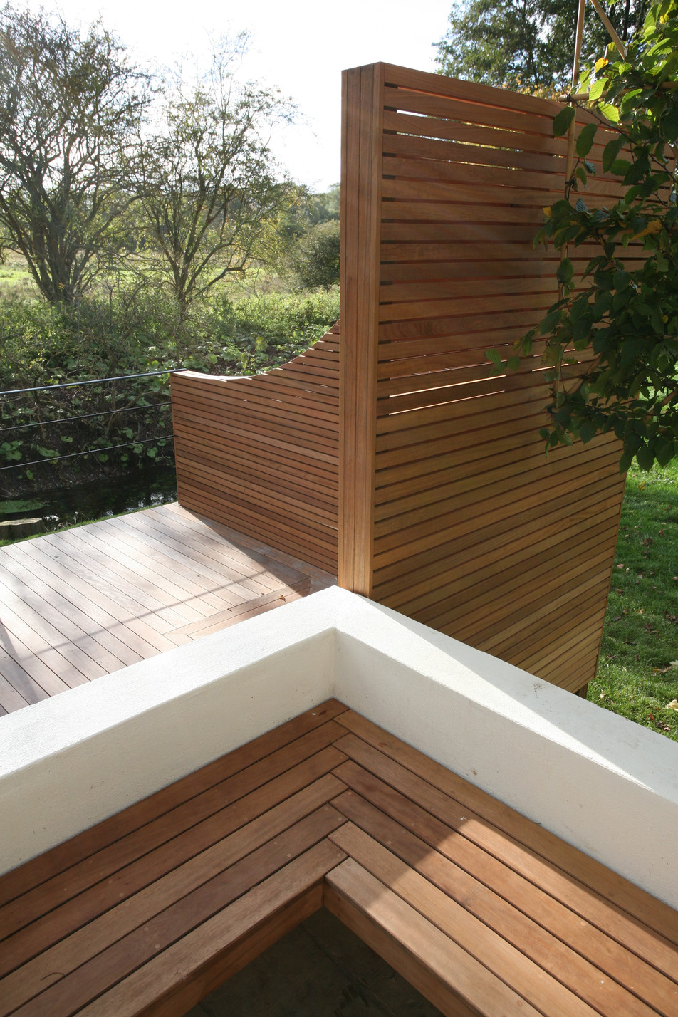 Iroko garden screen