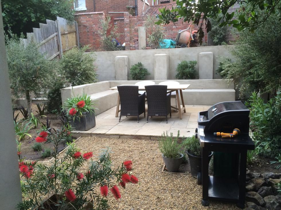 Garden landscaping in cringleford, norwich, norfolk