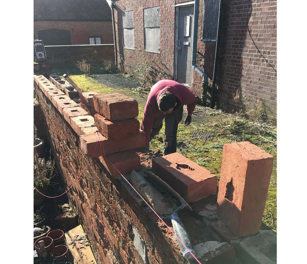 Repairing old period garden walls is another specialty of ours