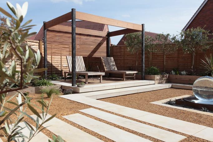 contemporary garden design norfolk