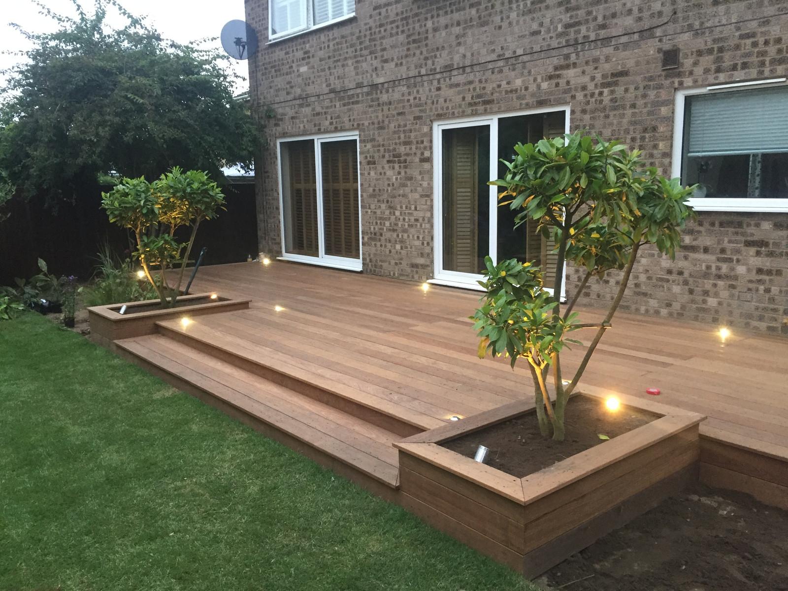 Garden design lighting landscaping norfolk stainless steel luxr garden deck light aloadofball Choice Image
