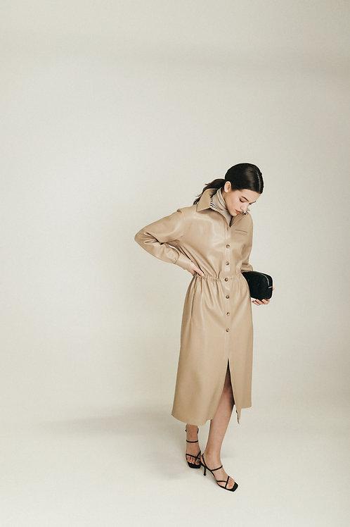 Сукня-сорочка з екошкіри