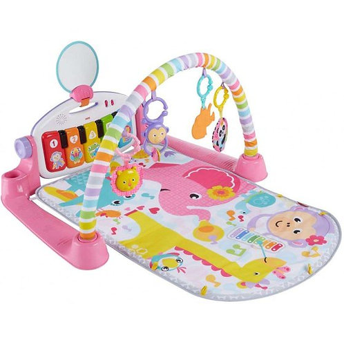 Tapete de atividades Deluxe Kick'n Play Piano Gym Rosa - Fisher Price