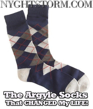 Above Adversity: THE ARGYLE SOCKS THAT CHANGED MY LIFE