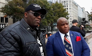 YG Nyghtstorm & Pastor Mark Burns of the Trump Administration at #WalkAwayMarch 2018