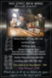 Copy of dark black event flyer template