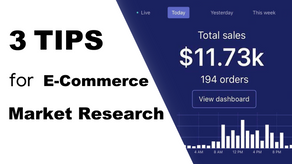 3 Market Research Tips for E-Commerce Business