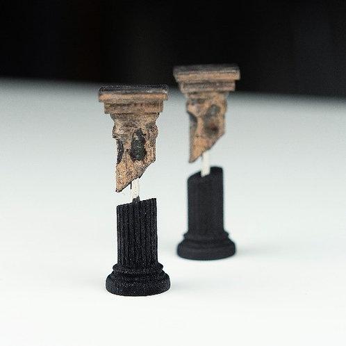 Fractured column earrings