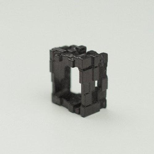Black maze ring