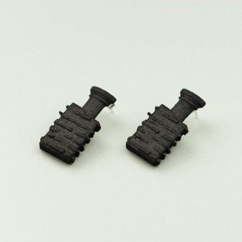 Dark brick studs