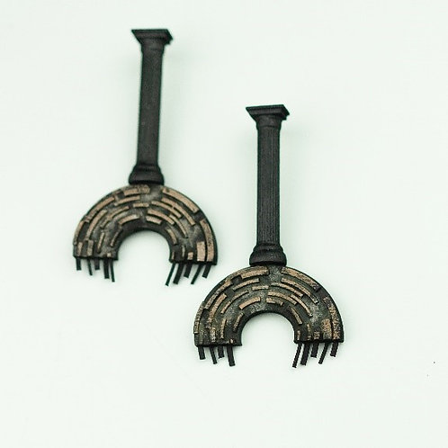Ancient landscape earrings