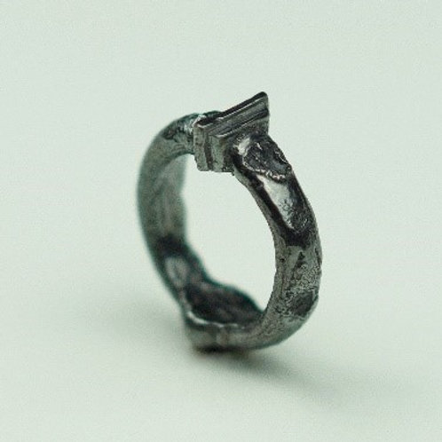 silver Infinity column ring