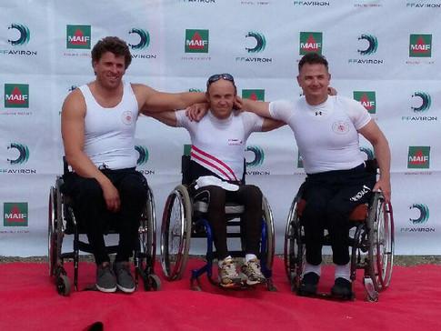 Vainqueurs handisport aviron Casaubon