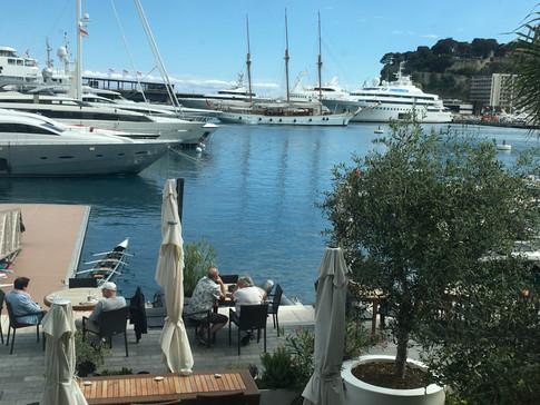 aviron yacht trois mats voilier, port de Monaco