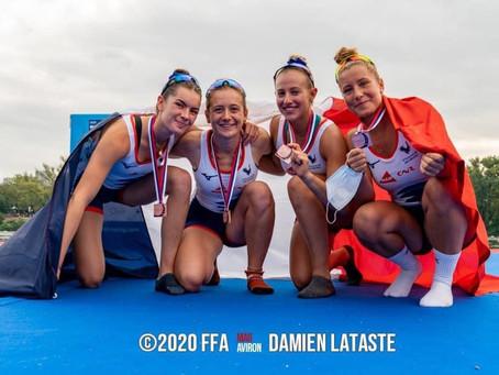 Championnat d'Europe Junior à Belgrade (Serbie) Gaïa Umbra Chiavini Médaille de Bronze avec l'Equip