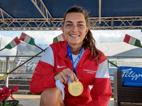 European Rowing Coastal Challenge (Marina di Castagnetto ITA): Coline Caussin-Battaglia Médaille d'O