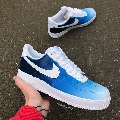 Faded Blue With Swoosh