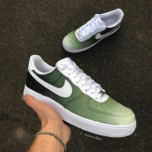 Faded Khaki With Swoosh & Paint Splatter
