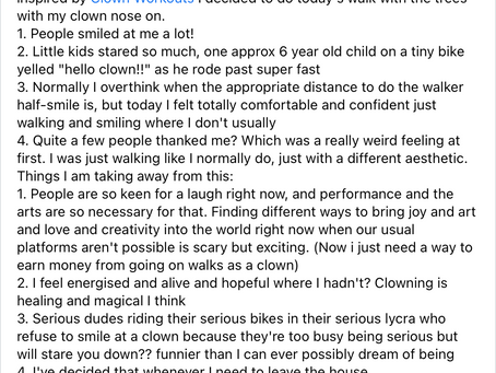 Clowning and vulnerability
