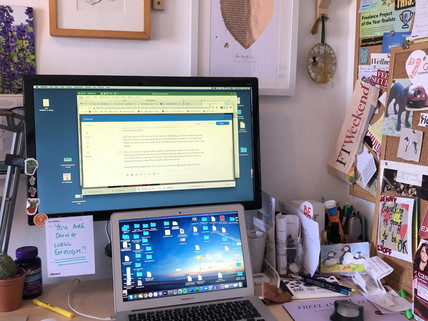 Freelance fancy desk set up feels