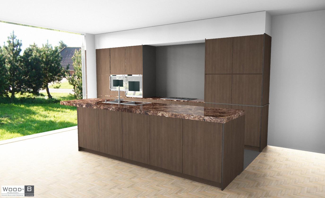 3D render Keuken