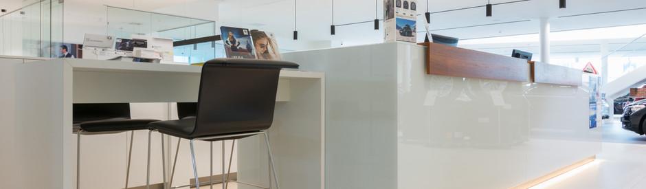 Service balie BMW concessie Jorssen te Merksem