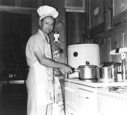 Joe Long cooking