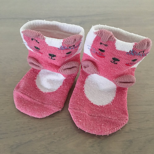 Chaussettes roses chat